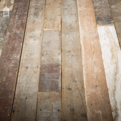 "Batch of 15 SqMs of Reclaimed Victorian 6"" Wide Pine Floorboards"