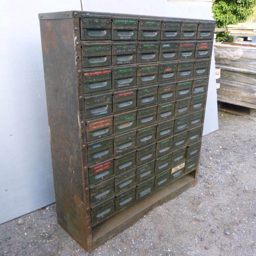 Vintage Industrial Metal Chest or Drawers