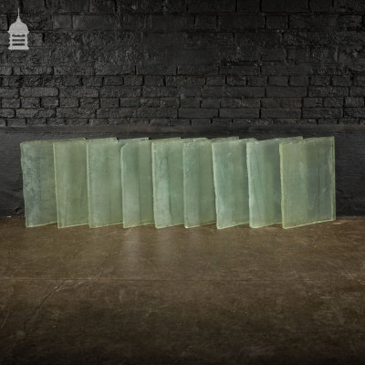 Batch of 9 Thick Glass Floor Tiles Reclaimed from 19th C Maltings