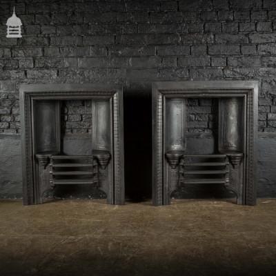 Pair of Georgian Cast Iron Fireplace Inserts