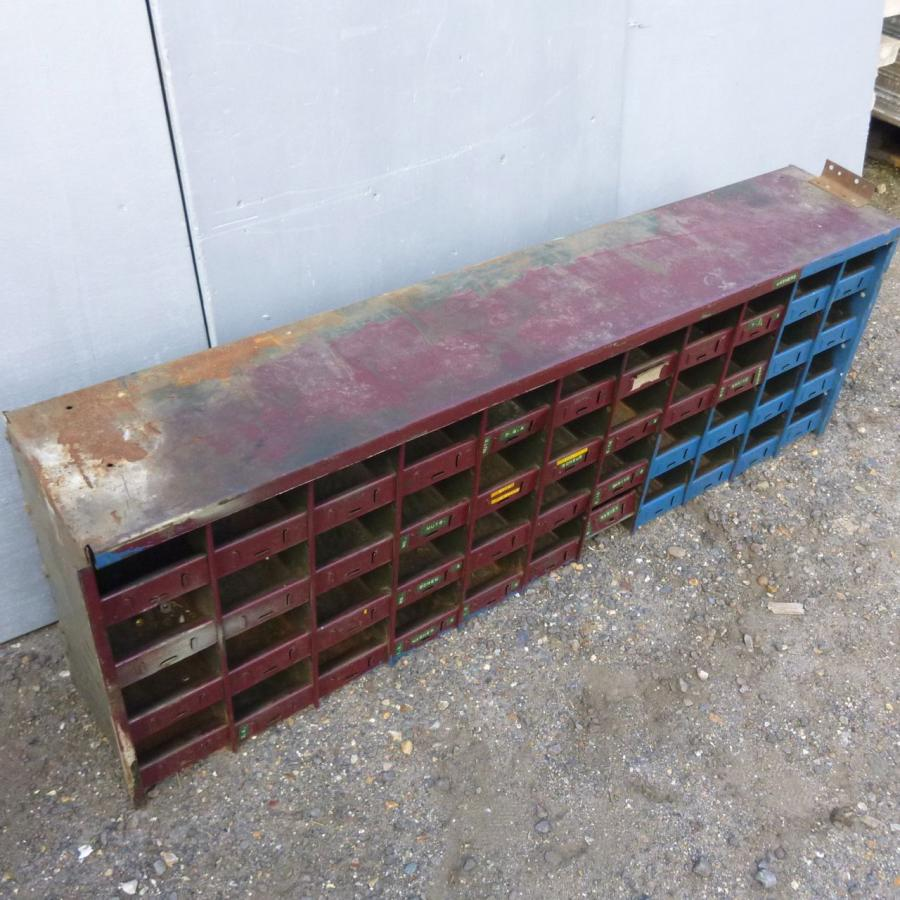 Vintage Industrial Metal Storage Unit