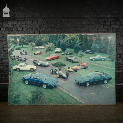 Large Vintage Cars Print from Lotus Factory