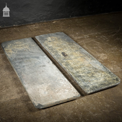 Pair of Reclaimed Victorian Slate Shelves Steps