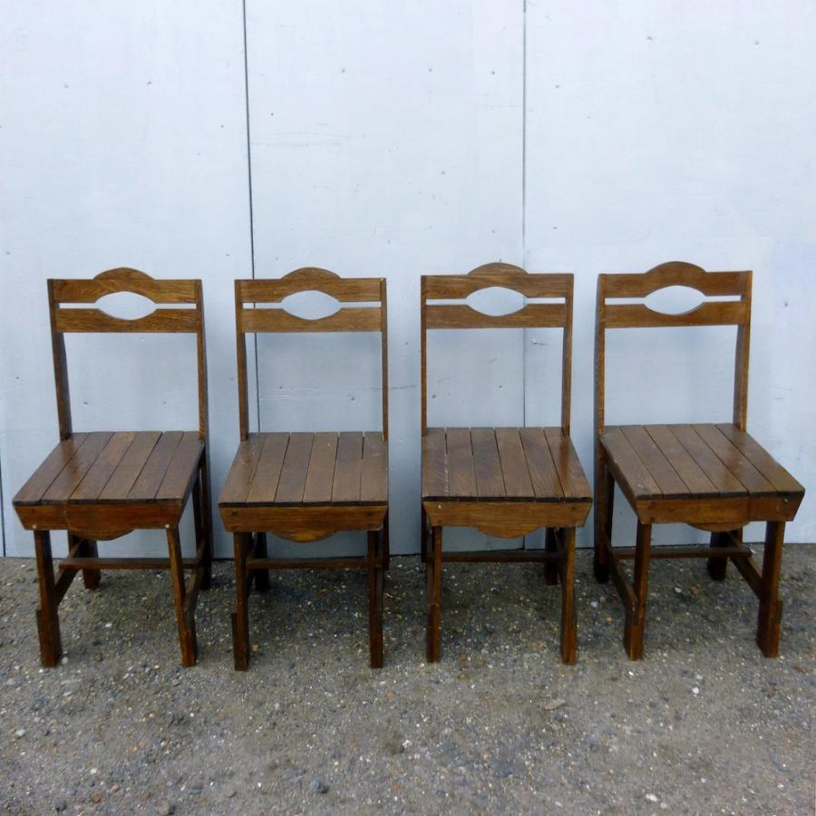Reclaimed Vintage Oak Wooden Chairs