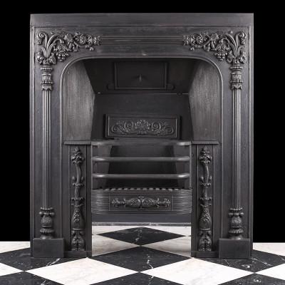 Ornate William IV Antique Regency Register Grate by Carron of Falkirk