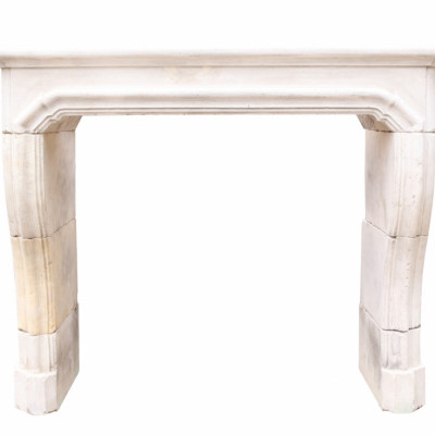 18th Century French Limestone Chimneypiece With Curved Jambs