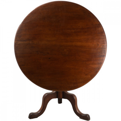 Victorian Mahogany Round Tilt Top Table