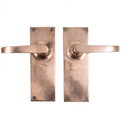 Art Deco Rose Brass Lever Door Handles