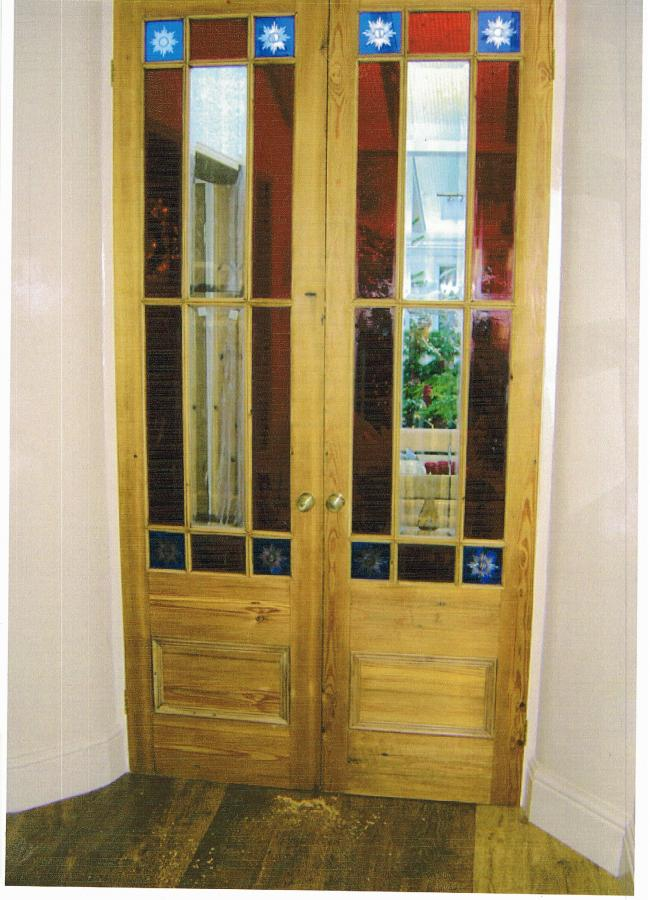 New doors made from reclaimed wood