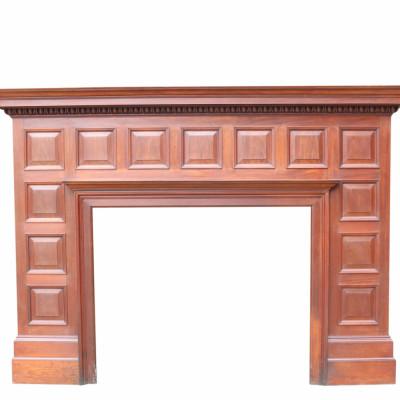 Large Edwardian Mahogany Panelled Fireplace