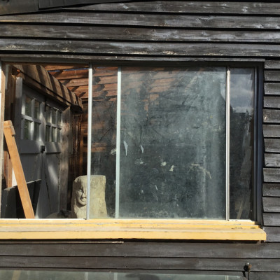 OLD WINDOWS FOR ARTIST'S STUDIO - wood or metal
