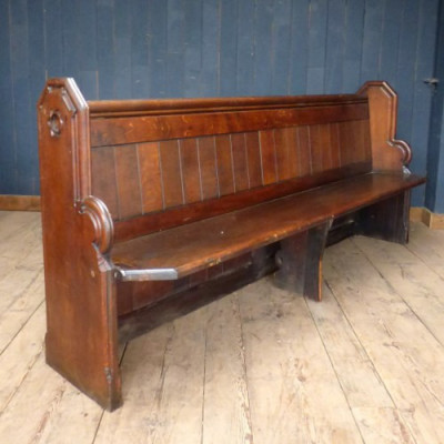 Reclaimed Solid Oak Church Pews