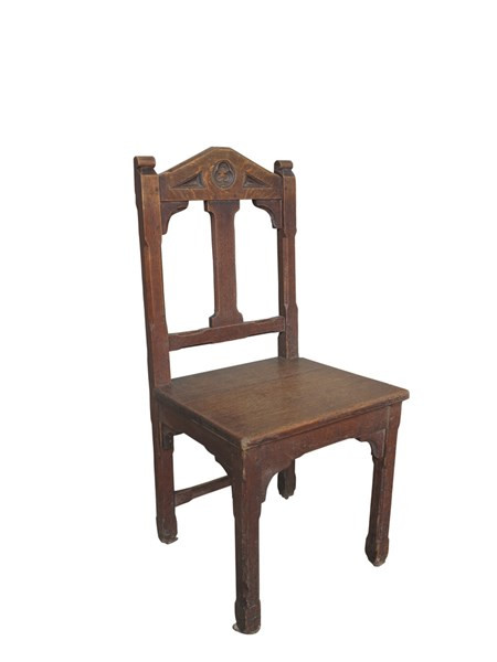 Worcester Cathedral Antique Gothic Oak Chairs  sc 1 st  SalvoWEB & For Sale Old Original Worcester Cathedral Antique Gothic Dark Oak ...