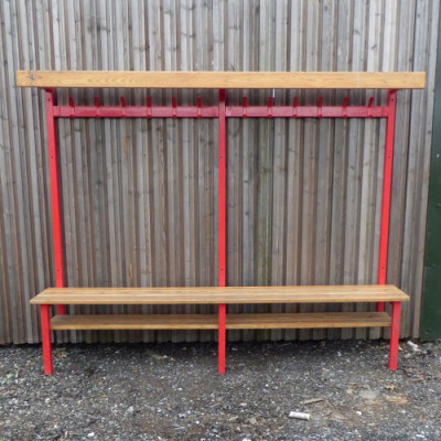 Reclaimed School Benches With Coat Hooks