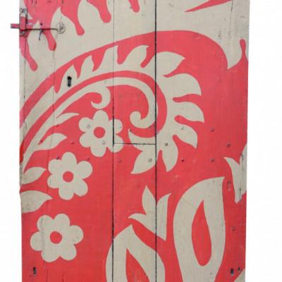 18th Century Painted Oak Plank Door