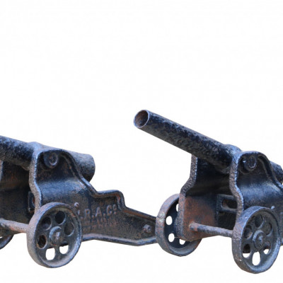 Pair Of Antique Winchester Signalling Cannons
