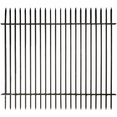Reclaimed Double Spiked Galvanised Iron Railings