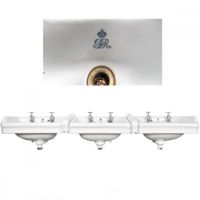 Antique George V Triple Adjoining Sinks