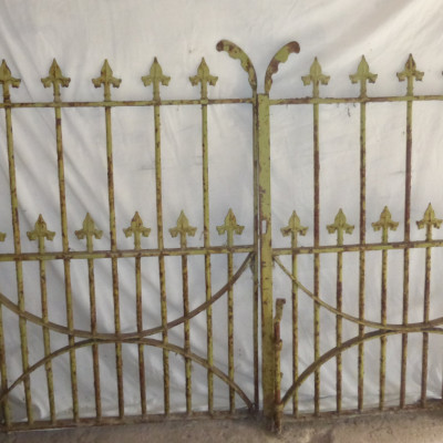 Pair of Antique wrought iron Drive gates with original posts.