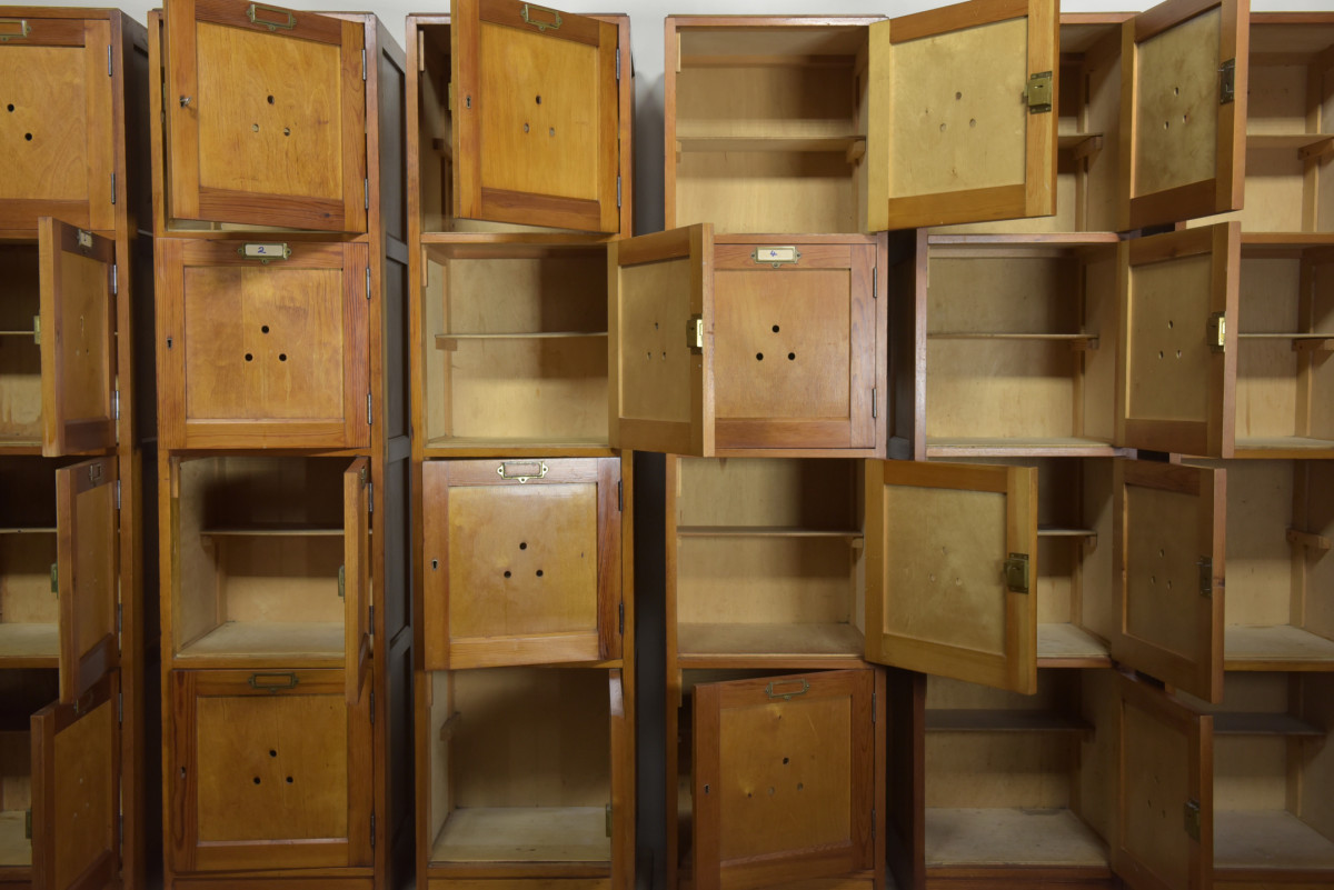 1950s School Locker Cabinets