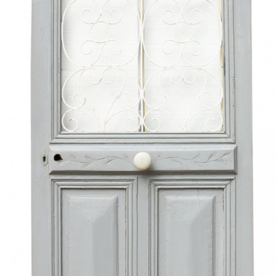 19th Century French Painted Oak Exterior Door
