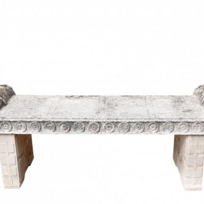 Composition Stone Garden Bench / Seat