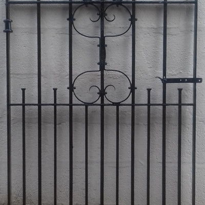 Antique wrought iron garden gate.