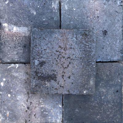 "Batch of 90 Staffordshire Blue Black Quarry Tiles  / Pamments 9x9"""
