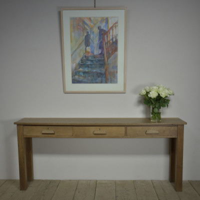 1940s Oak Console Table