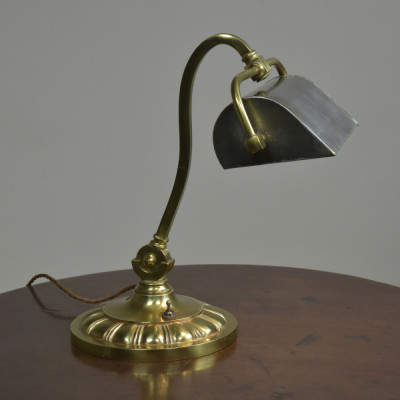 Antique Brass Desk Bankers Lamp
