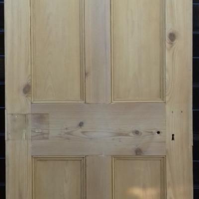 19th century 4 panel pine door.
