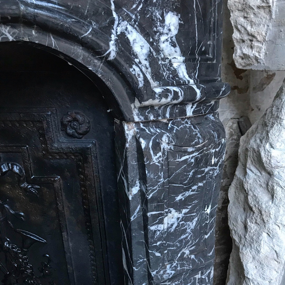 Antique French Marble Fireplace