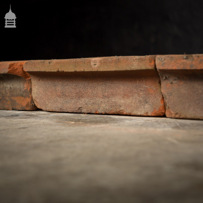 Batch of 19 Victorian Header Coping Red Special Bricks