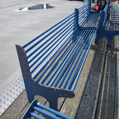 Metal Benches From Pier (Nautical Design)