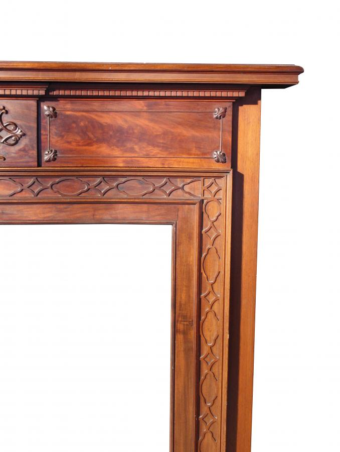 A good quality late 19th C. Mahogany fire surround