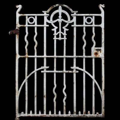 An antique cast iron side gate