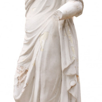Late 19th Century Plaster Statue Of A Classical Lady