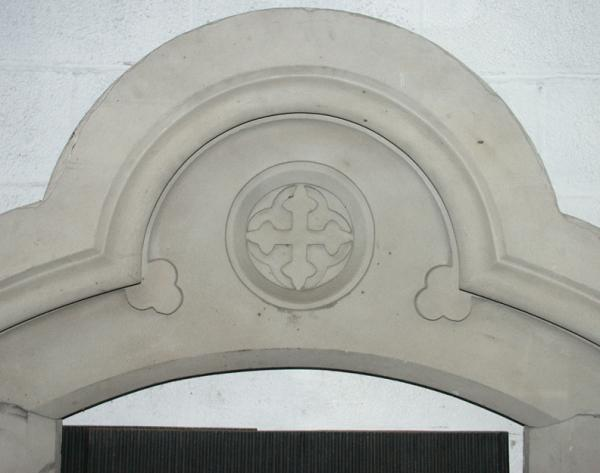 victorian gothic stone fireplace