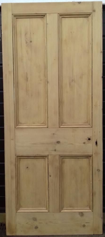 2 matching Victorian pine doors