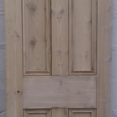 Victorian pine 4 panel door.