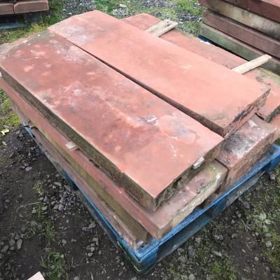 Original sandstone wall coping