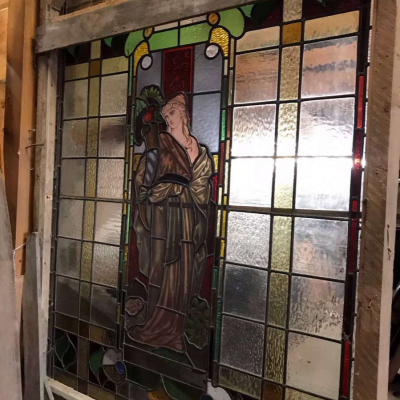 Extra large stained glass window