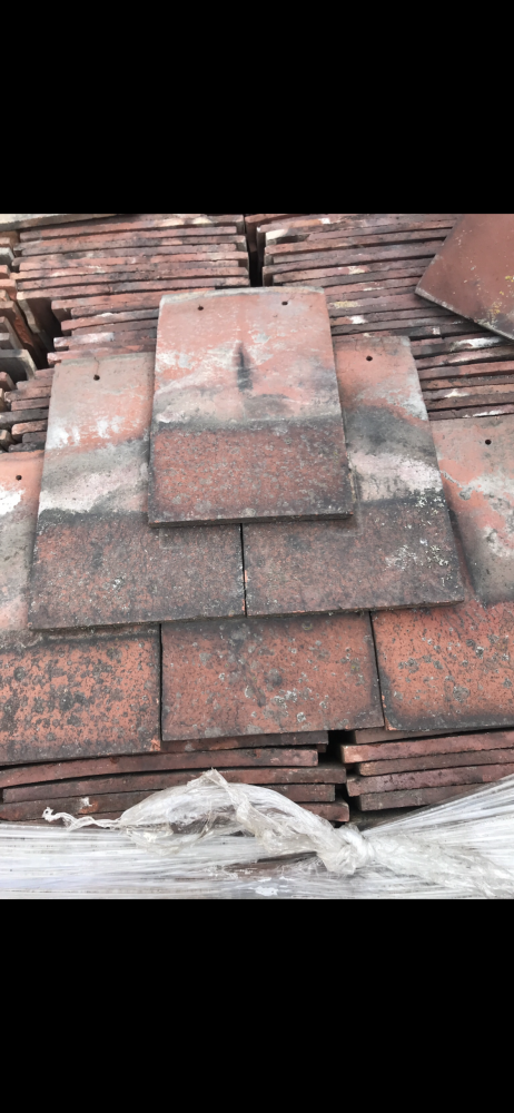 Reclaimed Roof Tiles Machine Made Clay 10.5 x 6.5 Nostall's