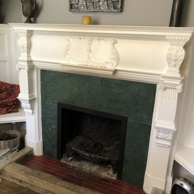 Edwardian carved chimneypiec