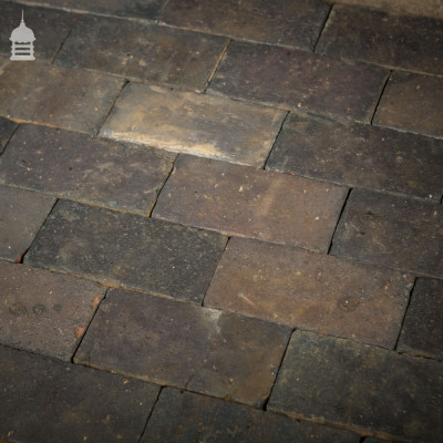 "Batch of 420 Reclaimed Staffordshire Blue 10"" x 5"" Floor Bricks"
