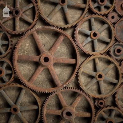 Batch of 31 Industrial Cast Iron Machine Cogs