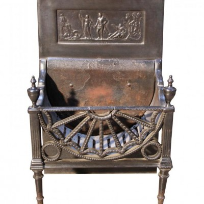 An early 19th C. cast iron fire grate