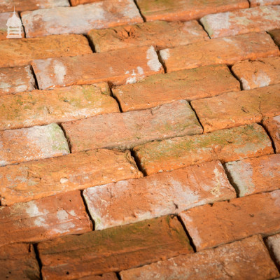 Batch of 172 Rare Reclaimed Small Orange Handmade Bricks