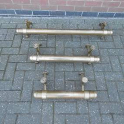 Vintage Pub Brass Rail with Fittings - Various Lengths