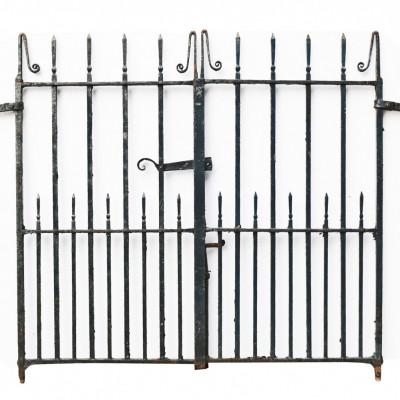 Pair Of Antique Wrought Iron Pedestrian Garden Gates